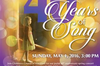 Spring Choral Concert Celebrates 40 Years of Song!:Children's Chorus