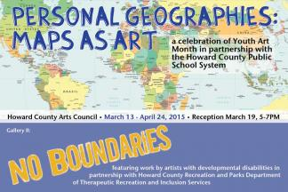 Gallery exhibits personal geographies maps as artno boundaries presented annually in partnership with the howard county public school system this years youth art month exhibit is titled personal geographies maps as gumiabroncs Gallery