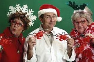 its a crazy carnival of crabby christmas carols audience participation surprises and fun for